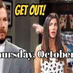 The Bold and the Beautiful Spoilers Thursday, October 29, B&B