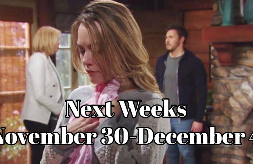 The Bold and The Beautiful Spoilers For Next Weeks November 30-December 4